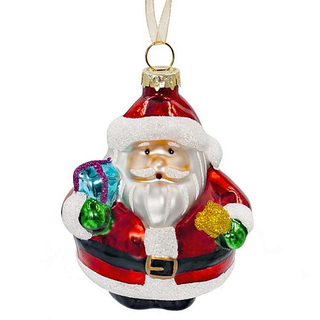 Ёлочная игрушка Дед Мороз с подарками