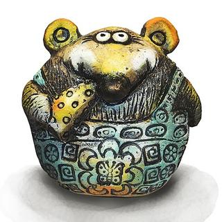 Мышь с сыром (шамот)