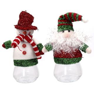 """Емкость для конфет """"Снеговик/Дед Мороз"""""""