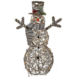 """Новогоднее украшение с подсветкой """"Снеговик"""""""