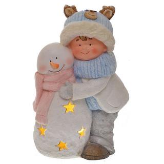 """Фигура с подсветкой """"Девочка со снеговиком"""""""