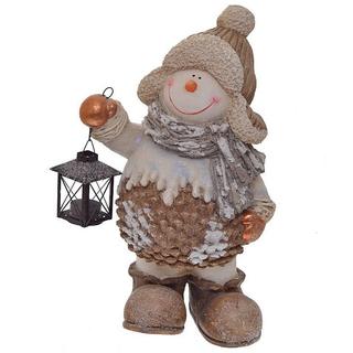 """Фигура """"Снеговик с фонариком"""""""