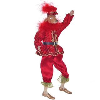 Бык в красном костюме