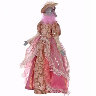 Коровка в розовом платье