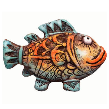 Сувенир из шамота Рыба Звездочет