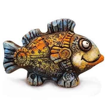 Интерьерный сувенир Рыба Звездочет (шамот)