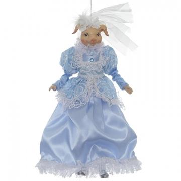 Свинья в голубом платье