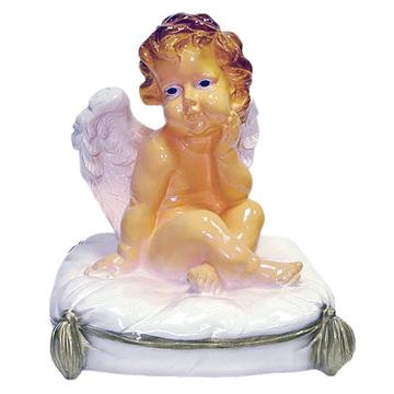 """Сувенир из гипса """"Ангел на подушке"""""""